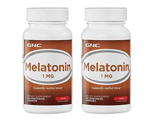 GNC mélatonine 1 mg Cherry 120 pastilles