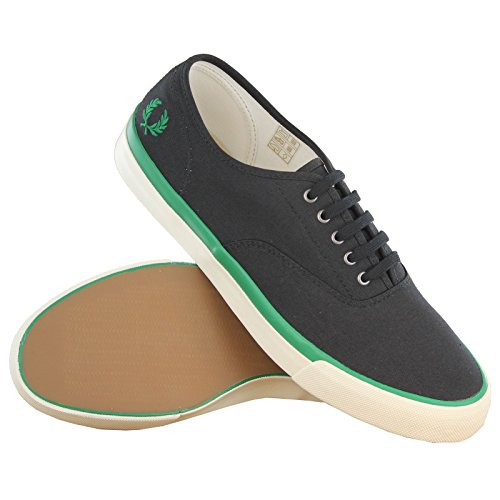 Fred Perry Clarence Twill Black Mens Trainers Black