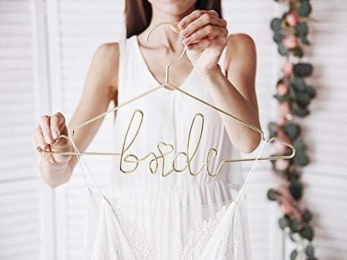 Miss Lovely Kleiderb/ügel Bride aus Metall in Gold//Hochzeits-Accessoires Braut Hochzeits-Deko Dekoration Brautkleid Zubeh/ör Hochzeitszeremonie JGA Junggesellinnenabschied