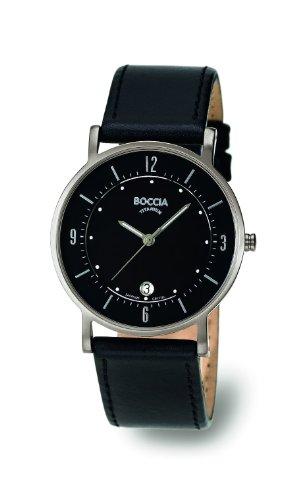 Boccia B3533-01 Mens Titanium All Black Watch