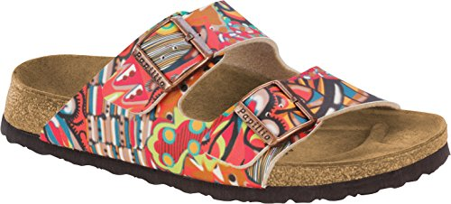 Birkenstock Womens Arizona Slide Sandal African Wax Raspberry Size 36 EU (5-5.5 N US Women)