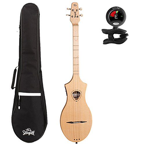 Seagull Merlin M4 Spruce EQ Acoustic-Electric Dulcimer with Gig Bag and Tuner by Seagull