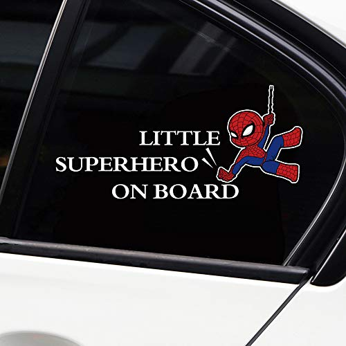 (vylymuses Little Superhero Baby On Board Stickers Reflective Car Stickers and Decals Car Styling Door Body Window Vinyl Stickers for Car Decoration Car Rear Window Stickers Car Decals (Type F 2010cm))