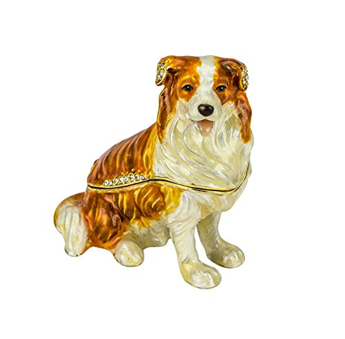 Jeweled Enamel Dog Box - 2