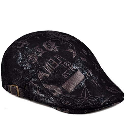 Y 56 De Para Gris Gorra Cuero Sombrero Primavera Otoño señoras Fina Xiaogege Negro Hombre 59cm aX1EqPn