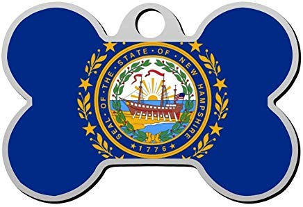 New Hampshire Pet ID Tag Personalized,Pet Id Tag