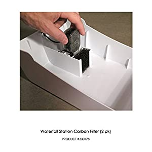 Replacement Activated Carbon Cartridges for PetStarz Waterfall Drinking Station for Dogs & Cats - 2 Pack 53