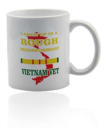 Vietnam veteran white ceramic mug for coffee or tea 11 oz. Gift cup.