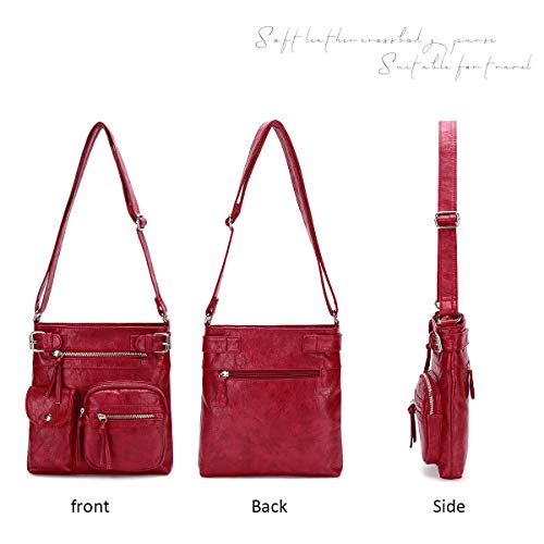 KL928 Crossbody Purses for Women Shoulder Bag, PU Washed Leather