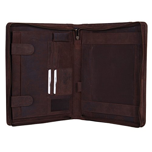 luxury-business-portfolio-leather-padfolio-zippered-gift-for-men-women