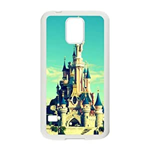 Disney Castle Design Samsung Galaxy S5 Back TPU and Plastic Case Cover