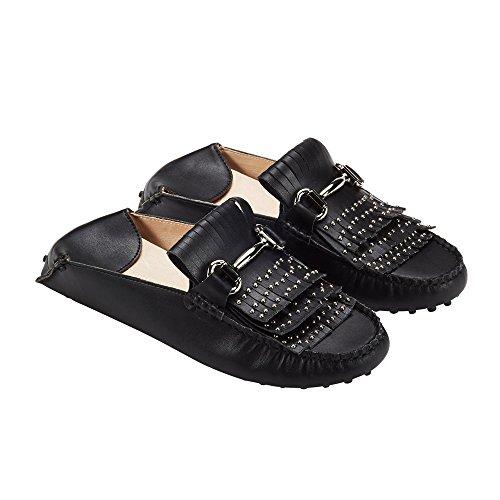 jenn ardor Women's Convertible Loafer Slides Slip-on Mules Slippers Leather Flat Shoes Driving Moccasins by jenn ardor