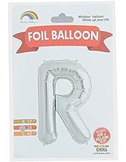 بالونة فويل شكل حرف R من ام كولور بالون، حجم متوسط - فضي
