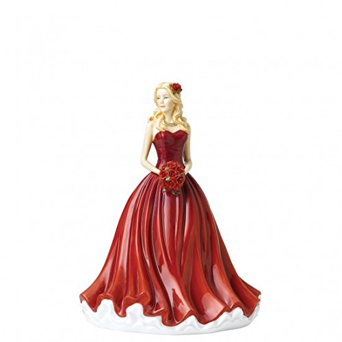 "Royal Doulton Language of Flowers 9"" Devotion Camellia Figurine, 9"", Red"