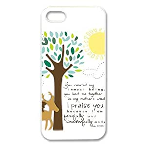 diycover Bible Verse iPhone 5 5S Case Hard Case Cover Protector Gift Idea by runtopwell