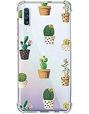 Oihxse Transparente Silicona Funda Compatible con Samsung Galaxy A6 Plus 2018/A9 Star Lite Carcasa Ultra-Delgado Suave TPU Gel Airbag Esquinas Anti Rasguños Lindo Protector Case Bumper(A6)