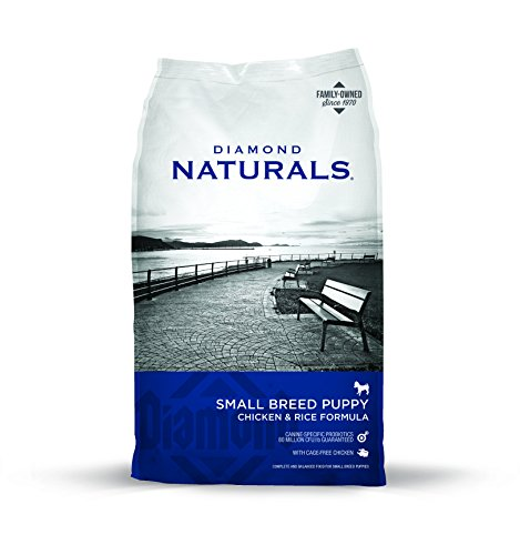Diamond Naturals Small Breed Puppy Real Meat Recipe Natural Dry Dog Food with Real Cage Free Chicken, 18lb (Small Breed Food Puppy)