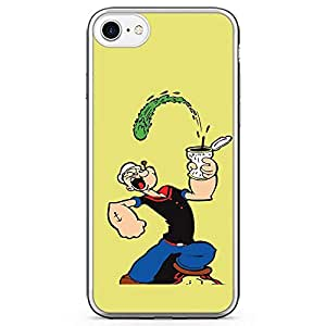 Loud Universe Popeye Spinach Energy iPhone 7 Case Popeye iPhone 7 Cover with Transparent Edges