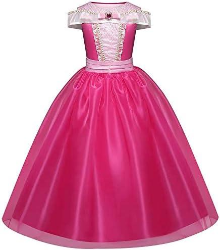 CVERY Aurora Vestido Princesa, Bella Durmiente Disfraz Rosa ...