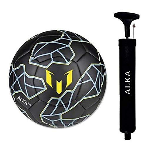 ALKA CLUB M Rubber Football With Pump, Size 5,  Black