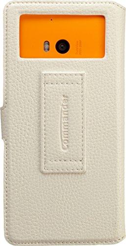 Commander Elite Uni Leder Book Case XXL5.2 für Samsung G900 Galaxy S5/Sony Xperia Z2 weiß