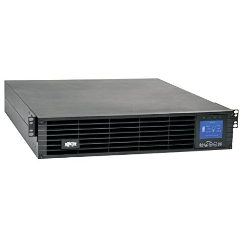 Tripp Lite SmartOnline 3kVA 2.7kW Double-Conversion UPS, 208/240V, Extended Run, Network Card Slot, LCD, USB, DB9, 2U Rack-Mount, ENERGY STAR (SU3000LCD2UHV) (Conversion Smartonline Double)