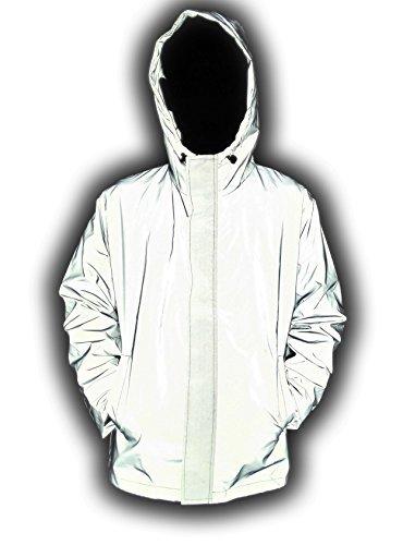 LANSHULAN Men's 3M Scotchlite Series Reflective High Visibility Jacket (L, Silver Grey)