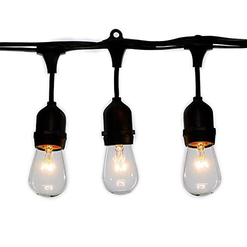 Pack of 20pcs 11 Watt S14 Warm Replacement Glass Bulbs - E26 Medium Candelabra Screw Base Light Bubs for Commercial Grade Outdoor Patio Vintage String Lights 16-Gauge Wiring by Brightown (Image #2)
