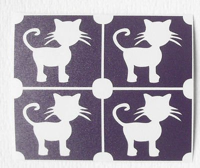 TEMPORARY GLITTER TATTOO 20 x mini stencil cat silhouette glitter tattoo airbrush facepaint