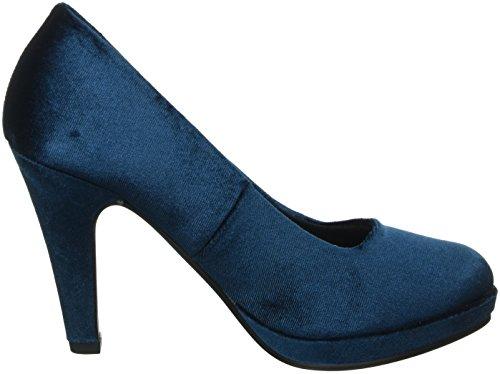 Marco Tozzi 22433, Zapatos de Tacón para Mujer Azul (PETROL VELVET 734)