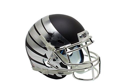NCAA Oregon Ducks Wing Matte Black Authentic Helmet, One Size by Schutt