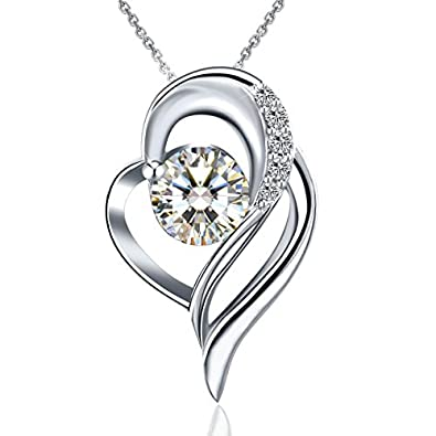 Necklaces, Snowflake Necklaces, J.Rosée Jewellery 925 Sterling Silver Cubic Zirconia 18