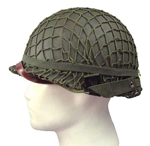 (OAREA World War 2 U.S M1 Military Steel Helmet with Netting Cover WWII Equipment Replica)