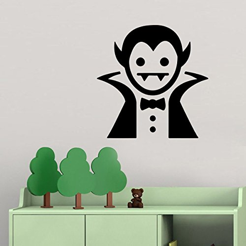 Vinyl Wall Decal - Funny Halloween Silhouette Bat