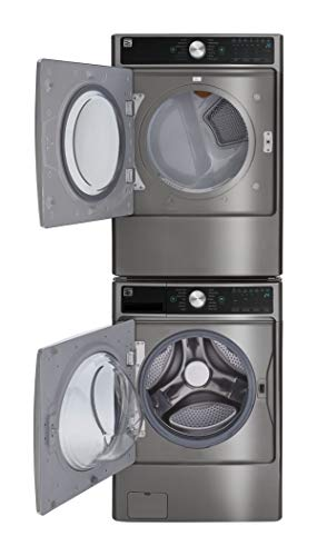 Kenmore Smart 7.4 cu. ft. Front Load Gas Washer and Dryer Bundle with Accela Steam -Metallic Silver – Compatible with Alexa.