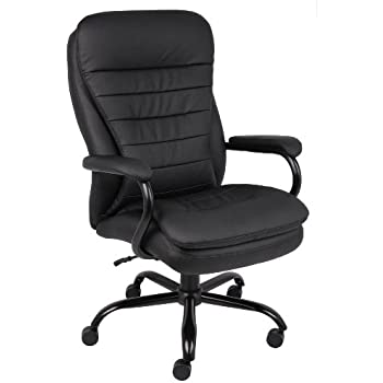 Boss Office Products B991 CP Heavy Duty Double Plush LeatherPlus Chair with  350lbs Weight Capacity in BlackAmazon com  AmazonBasics Big   Tall Executive Chair  Kitchen   Dining. Heavy Duty Office Chair Base. Home Design Ideas