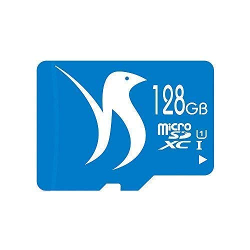 FATTYDOVE Micro SD Card 128GB MicroSDXC Microsd Class 10 Ultra High Speed MicroSD Card for Dash Cam/security camera/GoPro-with SD Adapter(128GB U1)