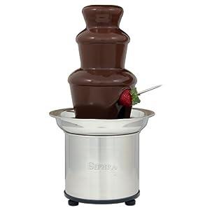 Sephra Home Fondue Fountain Chocolate Fountain Electric, Select 16-Inch Fondue Fountain Small, Stainless Steel Heated Basin, Chocolate Fountain Kids, WhisperQuiet Motor, 4 lb Capacity,