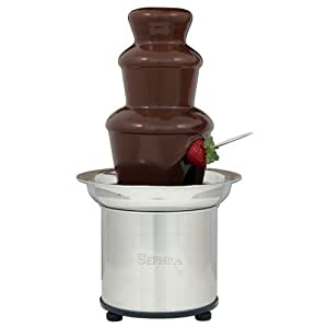 Sephra Home Fondue Fountain Chocolate Fountain Electric, Select 16-Inch Fondue Fountain Small, Stainless Steel Heated Basin, Chocolate Fountain Kids, WhisperQuiet Motor, 4 lb Capacity,