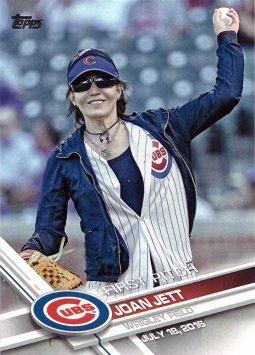 2017 Topps First Pitch #FP-8 Joan Jett Baseball Card - Chicago Cubs