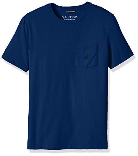 (Nautica Men's Solid Pocket T-Shirt, Estate Blue,)