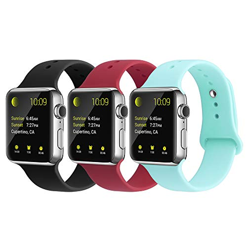 YUNSHU Compatible iWatch Band Replacement iWatch Band 42mm/44mm S/M for Women and Man Soft Sports Band Strap Silicone Series 4 Series 3 Series 2 Series 1-3 -