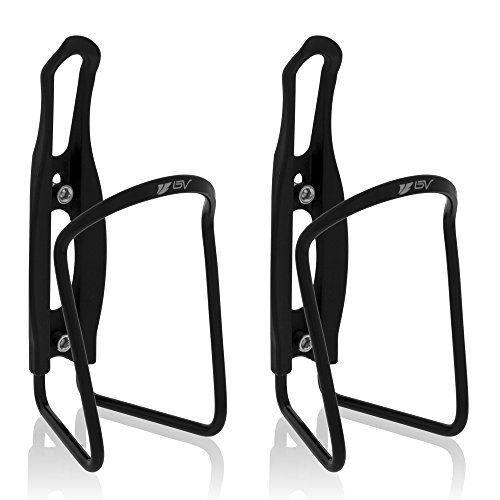 BV Bicycle Alloy Lightweight Holder Cycling Aluminum Water Bottle Cages (2 Pack)
