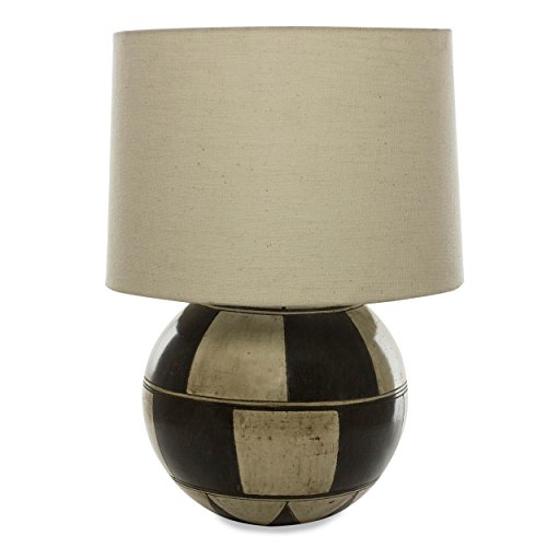 NOVICA Modern Ceramic Table Lamp, Black and White, Domino' by NOVICA