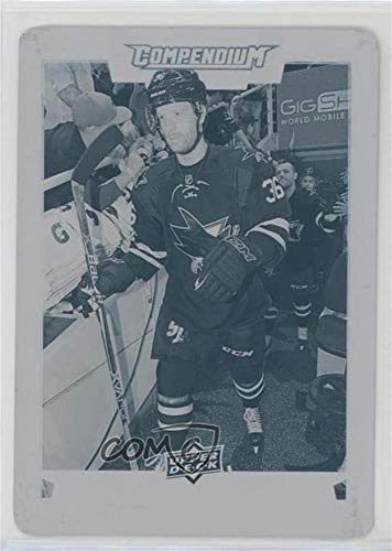 Jannik Hansen #1/1 (Hockey Card) 2017-18 Upper Deck Compendium - [Base] - Printing Plate Cyan #213