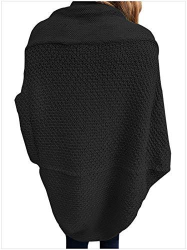 Giacche Relaxed Autunno Fashion Libero Mode Forcella Manica Tempo Eleganti Monocromo Marca Maglia Giacca Kaffee Bolawoo Donna Outerwear Di Aperto A Cappotto Pipistrello nqWZ8ZFa