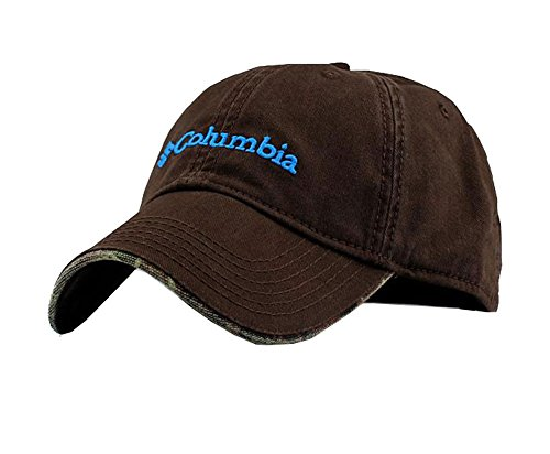 Fitted College Hat Cap - Columbia Unisex Adjustable Performance Classic Outdoor Flex Fitted Hat Cap, Coffee, Free Size
