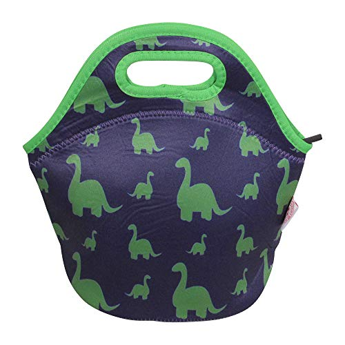 The Coral Palms Soft Insulated Neoprene Lunch Tote - Dino-Tastic Dinosaur Collection Reusable Designer Lunchbox Container Organizer For Men, Women, Adults, Kids, Girls, Boys