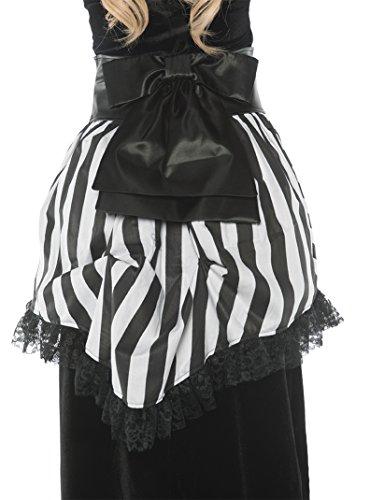 Victorian Era Dress Costume (Women's Costume Bustle Gothic Victorian - Black & White Striped)