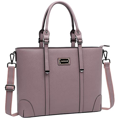 ZMSnow Laptop Bag for Women, Superior Laptop Tote Bag Computer Briefcase Fits up to 15.6 Inch Laptop for Women Work Office Business School Travel (Purple)